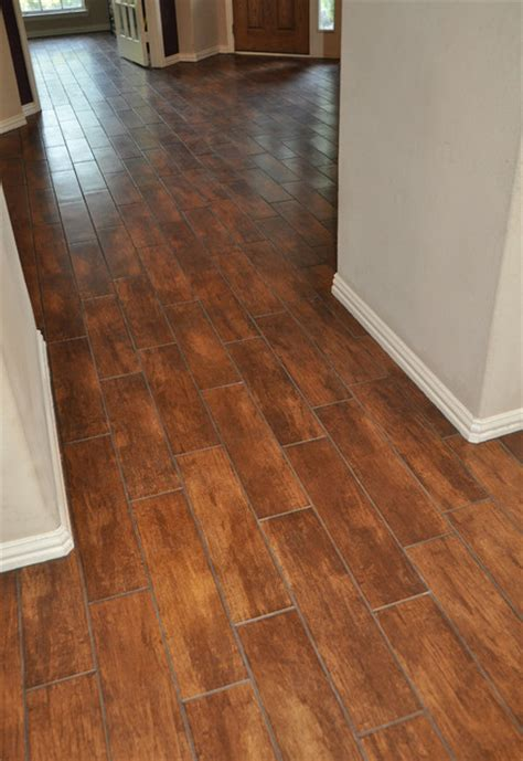 porcelain wood look tile plank traditional dallas by