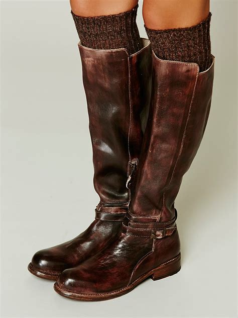 bed stu boot bed stu bonnor tall boot in brown lyst