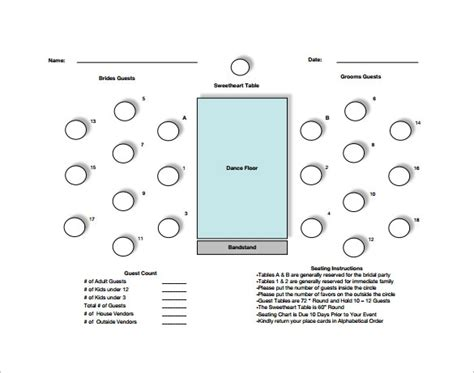 table seating chart template beepmunk