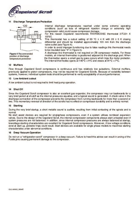 emerson copeland refrigeration scroll zf  zf  compressor manual