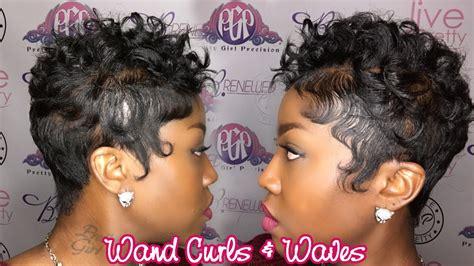 Wand Curls on Short Hair  Waves   YouTube