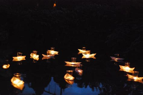 Origami Boat Candles - diwali boat candle race