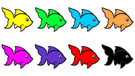 color fish learn colors with fish colourful fish for