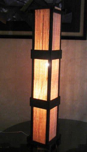 abajur de chao luminaria de piso rustico japones sala quarto   em mercado livre