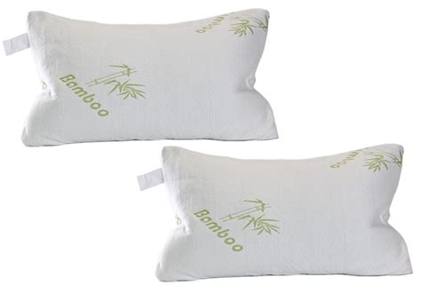 bamboo pillow with cool comfort 2 pack bamboo ultra plush cool comfort hypoallergenic