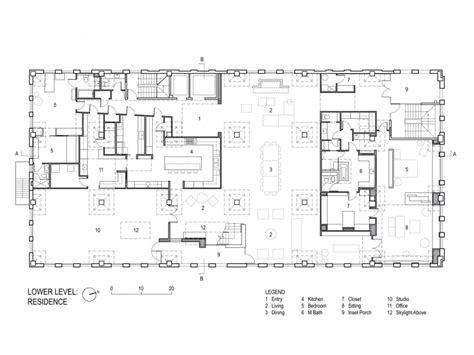 home plan architects collector s loft poteet architects plan archdaily