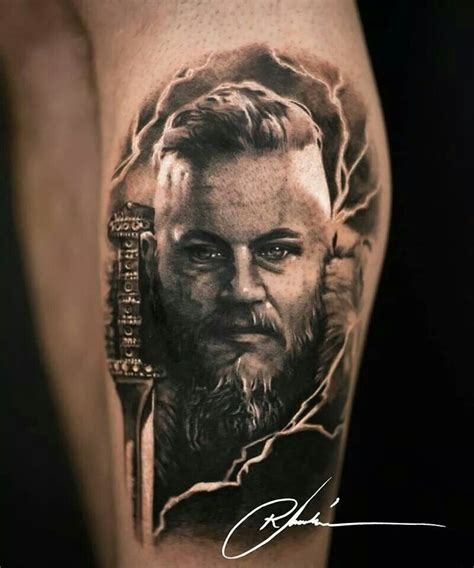 ragnar from vikings tattoos tatoo
