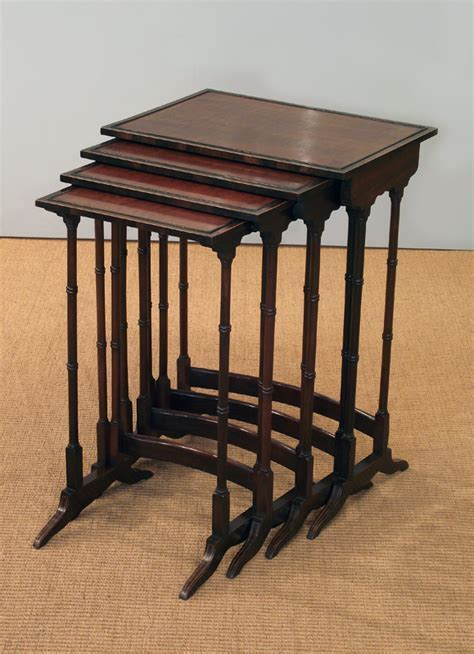 Antique nest of tables, Quartetto of tables, 19th century
