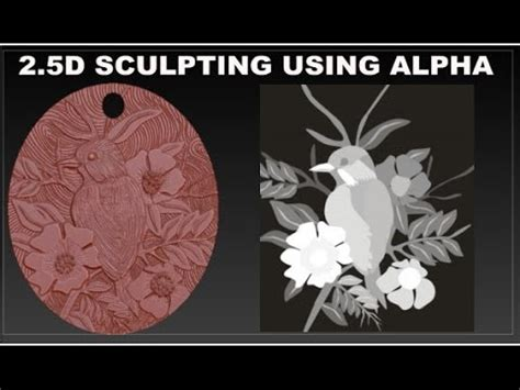 zbrush coin tutorial jewelry design 2 5d sculpting using alpha in zbrush youtube