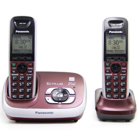 Home Phone Systems by Kx Tg 6531 Dect 6 0 Plus Expandable Digital Cordless Phone