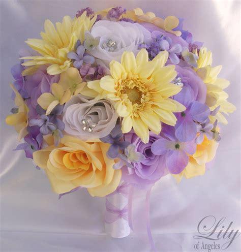 Plum Purple Wedding Decorations 17pcs Wedding Bridal Bouquet Set Decoration Package Silk