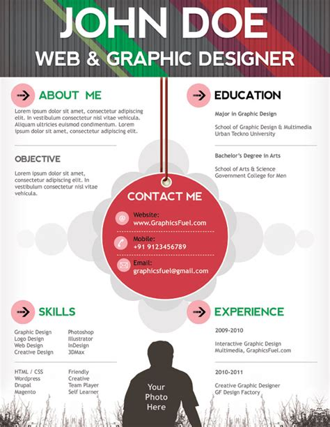 Graphic Designer Resume Sample Word Format by 15 Free Creative Resume Templates