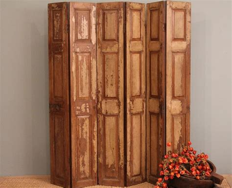 Reclaimed Wood Room Divider Room Divider Screen Wood Folding Rustic Door Panels Headboard Room Divider Screen Divider