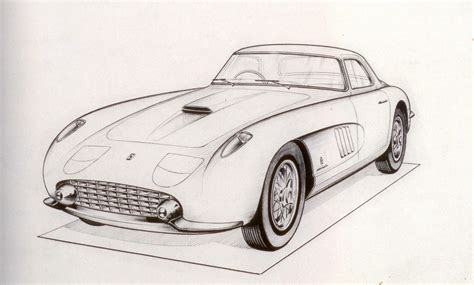 ferrari drawing a pininfarina ferrari beauty that did not make it to