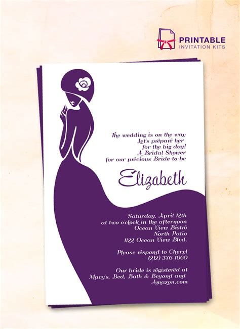 make free printable bridal shower invitations bridal shower invitation lady bride wedding invitation