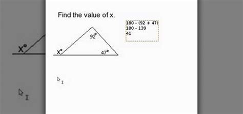 How To Find You In How To Find A Missing Angle Outside Of A Triangle 171 Math Wonderhowto