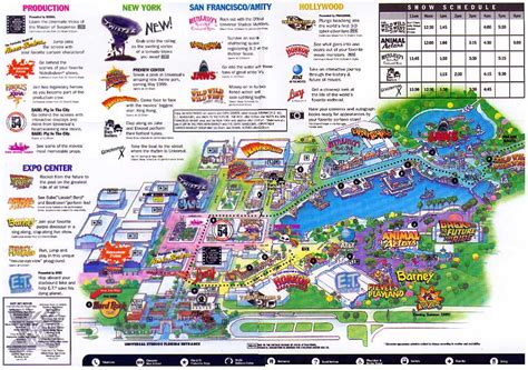 universal map theme park brochures universal studios florida theme park brochures