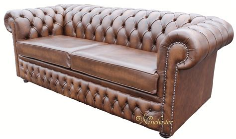 sofa winchester chesterfield winchester 3 seater sofa settee antique brown