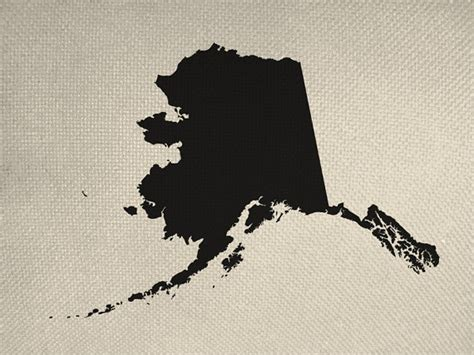 State Of Alaska Background Check State Of Alaska Style Silhouette Graphic Iron By Everythinggraphic