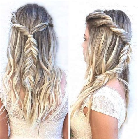 easy hairstyles with box fishtales 31 half up half down prom hairstyles braided half updo