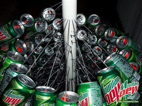 christmas mt dew a classic tree made from 400 mountain dew cans bit rebels