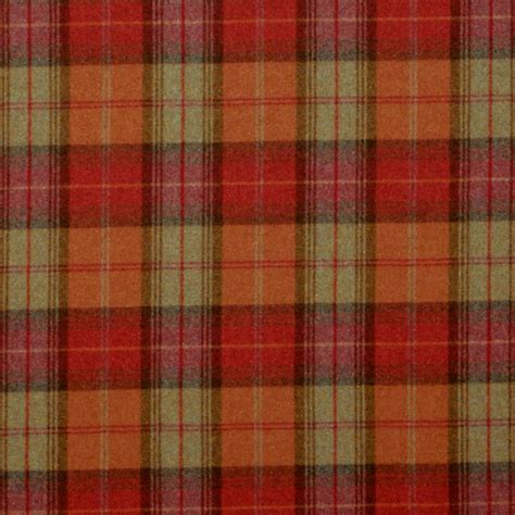 wool drapes curtains in woodford plaid fabric brick wine dhigwp301
