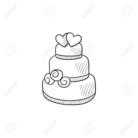 Hochzeitstorte Comic by Wedding Cake Black And White Pencil And In Color