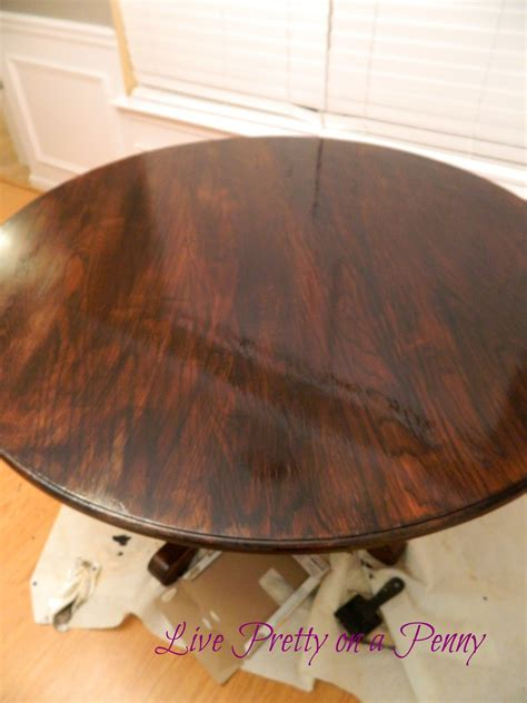 Dining Room Table Refinishing by Live Pretty On A Penny Refinishing An Oak Table A Dining