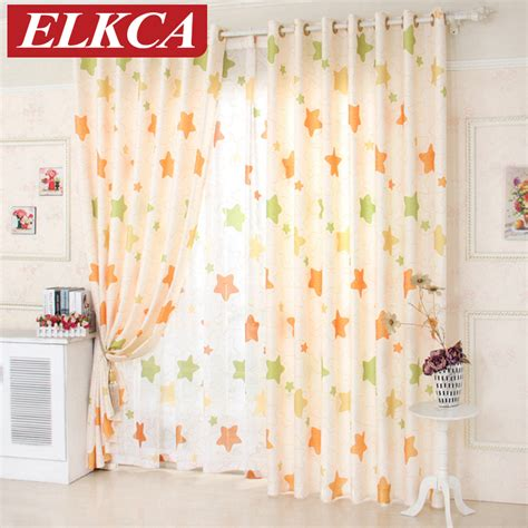 cheap curtains for kids aliexpress com buy star window curtains for living room