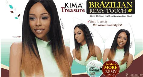 michelle human hair blend weave brazilian remy touch yaki harlem125 kima treasure 100 human hair and premium fiber