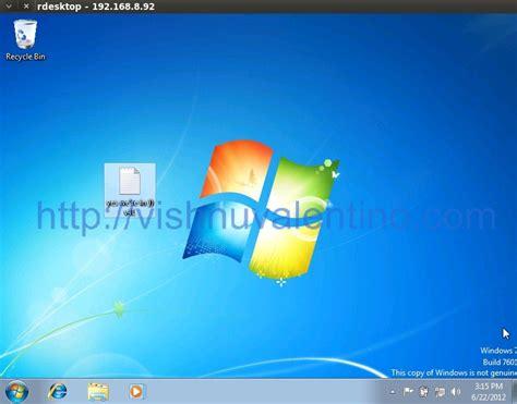 porta desktop remoto windows 7 habilitando remote desktop da vitima pelo metasploit