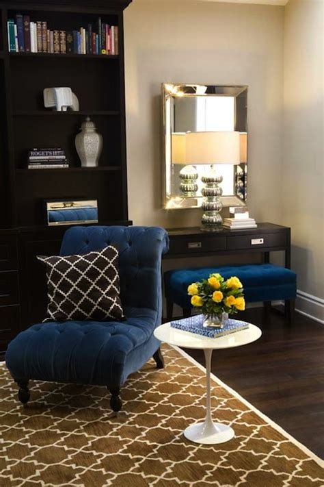 royal blue living room turquoise la royal blue chocolate brown chic living