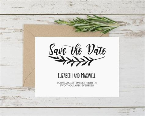 Editable Save The Date Templates Rustic Save The Date Printable Instant Download Printable Save The Date Template With Photo