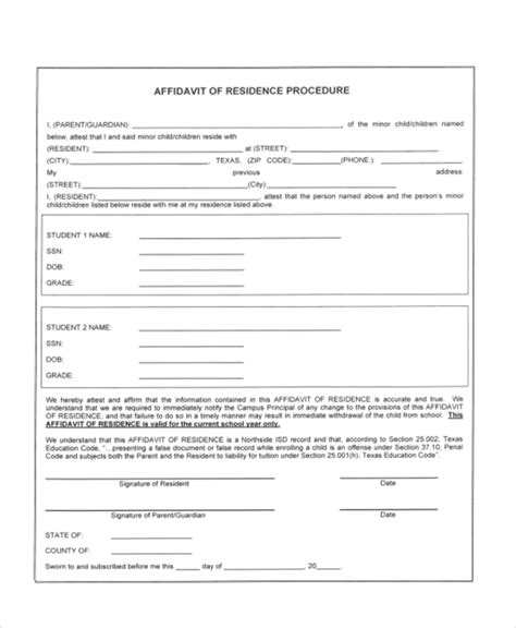 Residency Documents