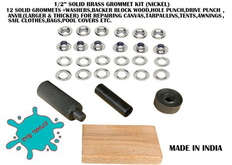 Solid Rubber Grommet Kit by Setters Anz Leather And Hobby Crafts
