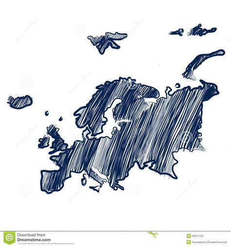Europe Map Drawing