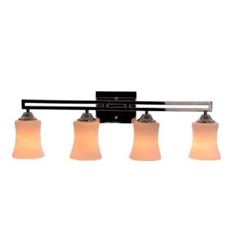 Vanity Light Bar Home Depot by Hton Bay 4 Light Polished Nickel Dual Bar Vanity Light