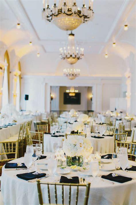black gold and white reception decor elizabeth designs the wedding