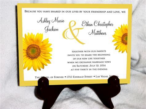 sunflower wedding invites best sunflower wedding invitations best profesional