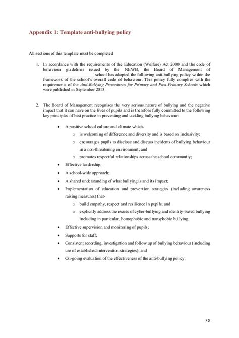 bullying and harassment policy template bullying and harassment policy template image collections