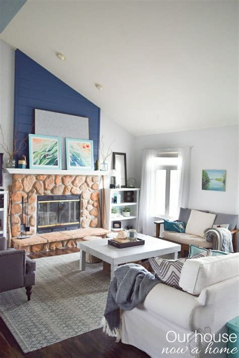 inspire room how to blend fall decor into a blue and coastal themed style our house now a home