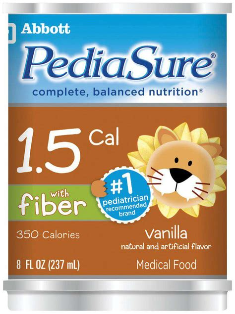 5 w supplement pediasure 1 5 with fiber nutritional supplement 1 5 cal