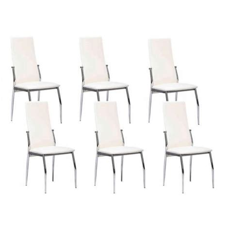 lot 6 chaises blanches city lot 6 chaises blanches achat vente chaise salle a