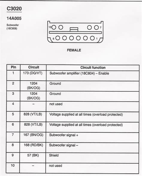 ford subwoofer wiring free wiring diagrams