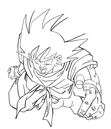 Free Printable Dragon Ball Z Coloring Pages For Kids Coloring Pages Goku