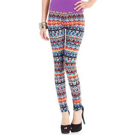 juniors patterned leggings material girl juniors printed leggings in multicolor