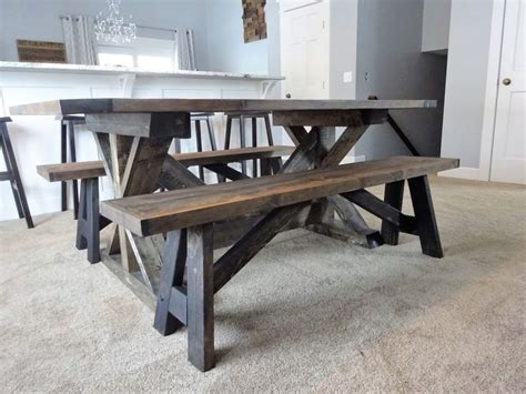 farmhouse table remix how to build a farmhouse table diy farmhouse bench my blog pinterest farmhouse