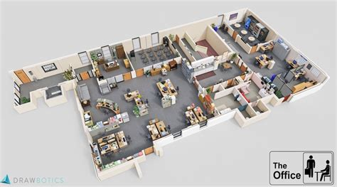 floor plan of the office check out these 3d floor plans of the sets for the office
