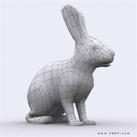 free download cgtrader models 3d model 3drt hare vr ar low poly rigged animated cgtrader