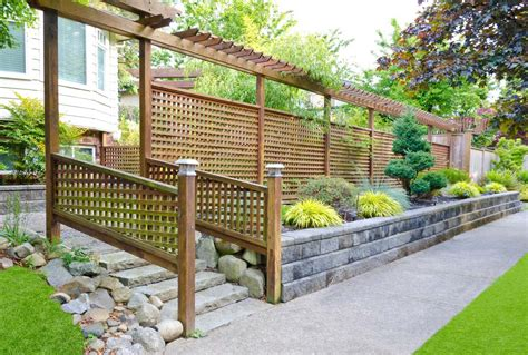 backyard fence styles 25 garden fences in varied styles and materials garden